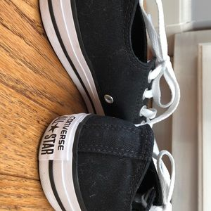 REAL black low top all star converse
